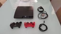 Leiam o anúncio 3448 Jogo instalado desbloqueado Parcelo Playstation 3 ps3 2 controles