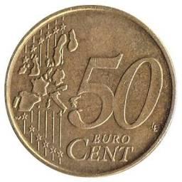Moeda 50centavos euro cent 2002