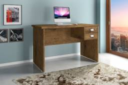 Mesa Escrivaninha para Computador em L ou Padrão com 2 Gavetas - Nova