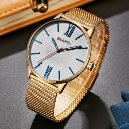 Curren Relógio Masculino Ultrafino Social