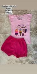 Conjunto infantil rosa Ice cream