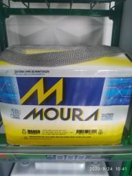 Baterias 60 amperes Moura R$359,00 a vista em espécie ou cartão c/juros
