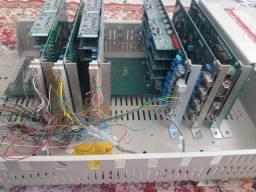 Pabx intelbras 95 digital com placas E1 e ramais