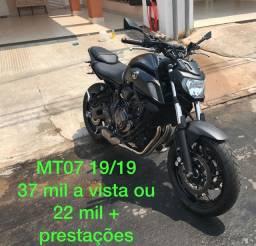 Yamaha MT 07 19/19 (agio ou quitada)