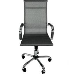 Cadeira Escritorio Diretor Giratoria Premium Prata