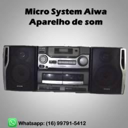 Micro System Aiwa aparelho de som