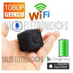 Mini Ip Camera 1080p Bateria Wi Fi 2Carro Casa Infravermelho para gravação no escuro