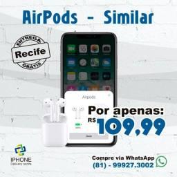 Fone de ouvido Sem fio Wi-Fi Estilo AirPods Qualidade Premium ( Entrega grátis )