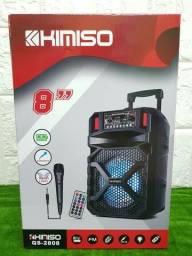 Promoção da caixa de som Kimisio 2808 de 800wts.Conexão com seu telefone iPhone
