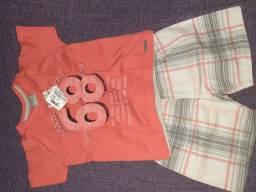Camiseta e short tamanho 1