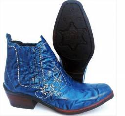 bota couro legitimo botina solado costurado estilo country