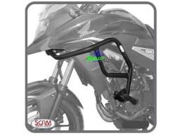 Protetor de motor e carenagem moto honda xre 190 com pedaleira scam
