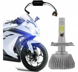 Lampada Led H4 Moto Super Branco Efeito Xenon Unidade