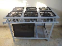 Fogão Industrial Itajobi, 6 bocas e forno