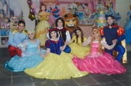 Animação Personagem Vivo Princesas Disney