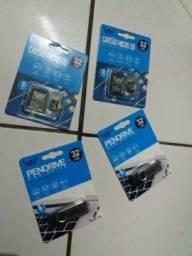 Cartão Sd32gb/Pendrive 32g memória 72R$ cada