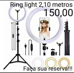 Ringlight 26 polegadas, 2 metros e dez