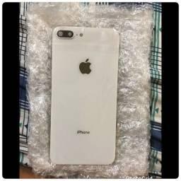Vidro traseiro do iPhone 8 Plus ( branco )