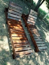 Espreguiçadeiras de madeira 120 cada