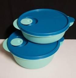 Tupperware Cristalwave 1 litro Verde Mint Tigela Marmita que vai ao Microondas