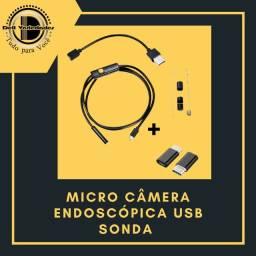 Micro Câmera Endoscópica Usb Sonda - Produto novo. Dell Variedades.