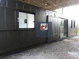 Comercial ou residencial em container 30m² com banheiro