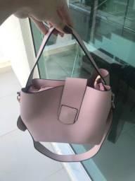 Bolsa rosa Satinato nova