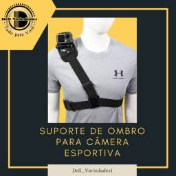 Suporte de Ombro para Câmera Sport - Produto novo. Dell Variedades.