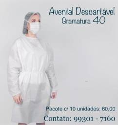Capote - Avental - Jaleco Descartável - A Pronta Entrega