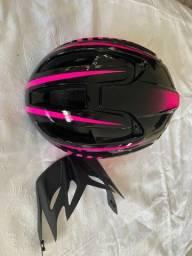 capacete ciclismo com luz de led