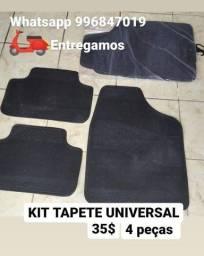 Kit tapete para carro universal 4 peças