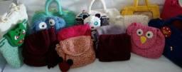 Bolsas artesanais em crochê