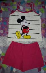 Babydoll Mikey mouse listras