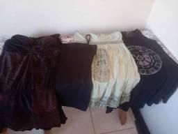Título do anúncio: Lote p/brecho roupas e calçados fem.7 pares de calçados e 40 peças ( adidas Melissa keds)