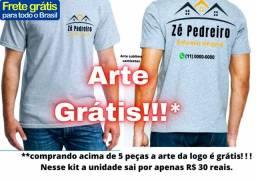 Camisetas estampadas para empresas 30 reais