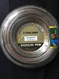 Encordoamento Signum Pro Firestorm 1.30mm - Rolo com 200m para raquete de tênis