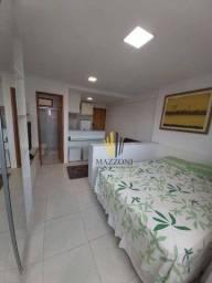 Edf. Golden Home Shopping   Flat Mobiliado   25m²   Andar Alto   Nascente   1 Vaga Rotativ