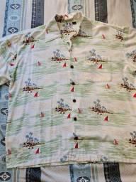 Camisa Floral Bubba Gump tam XXL
