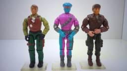 Lote com 03 Bonecos G.i.joe/Comandos em Ação/Cobra - Epic Toys