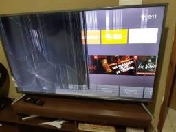 TV 55 Smart 4K com defeito