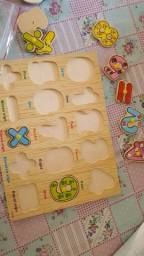Jogo educativo montessori encaixe de números