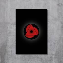 Placa Decorativa Naruto - Mangekyou Sharingan Baru