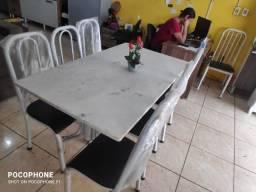 mesa 06 cadeiras nova