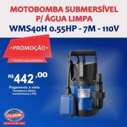 Motobomba Submersível para Água Limpa 0.55HP