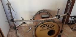 Corpo de bateria com rack Adah, Tom 12', surdo 14', bumbo RMV 20'