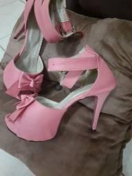 Sandalia n°35 salto 11 cm rosa