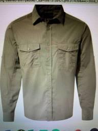 Camisa masculina nova marca Craghoppers Kiwi cor areia Tam M