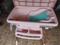 Banheira de Bebê Dobrável com Assento Burigotto Millênia Moun Amour