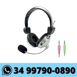 Fone de Ouvido com Microfone Headset p/ Computador