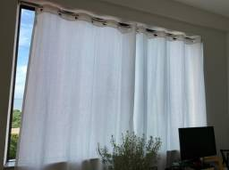 Varão Telescópico e cortina grande